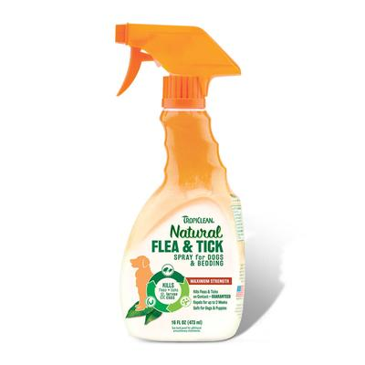 Tropiclean Maximum Strength Natural Flea and Tick Spray For Dog and Bedding