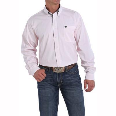 Cinch Men's Long Sleeve Striped Button Down Shirt