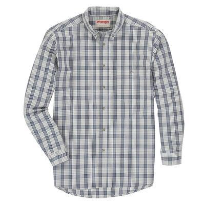 Wrangler Men's Long Sleeve Wrinkle Resistant Plaid Shirt