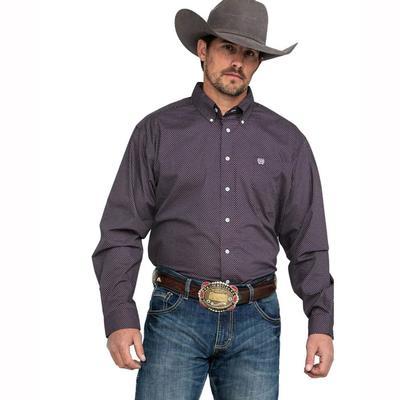 Cinch Men's Long Sleeve Button Down Shirt