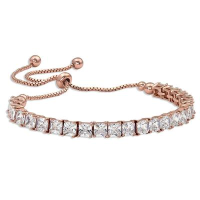 Montana Silversmith's Squarely A Rose Gold Tennis Bolo Bracelet