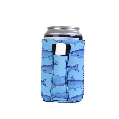 Blue Fish Regular Can Pocket Handler Can Cooler