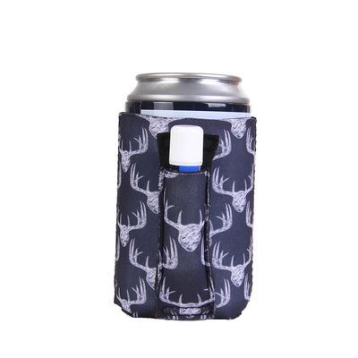 Chalkboard Antlers Regular Can Pocket Handler Can Cooler