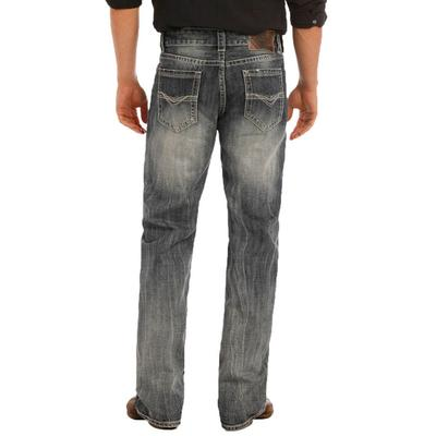 Rock and Roll Denim Men's Double Barrel Straight Leg Jeans