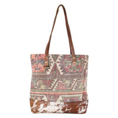 Myra Bag's Aztec and Brown Sprinkle Tote Bag