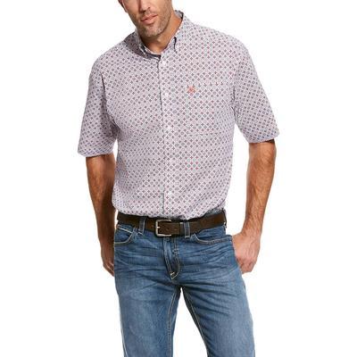 Ariat Men's Short Sleeve Casual Series Rivas Stretch Print Shirt