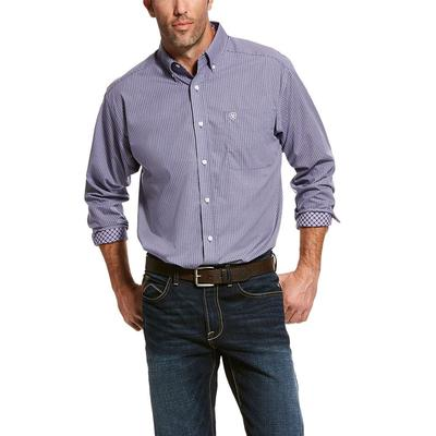 Ariat Men's Long Sleeve Wrinkle Free Casual Vaine Shirt