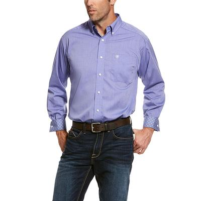 Ariat Men's Long Sleeve Wrinkle Free Solid Pinpoint Shirt