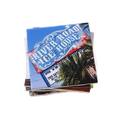 River Road Ice House Coaster