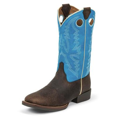 Justin Kid's Bent Rail Andrew Blue Boots