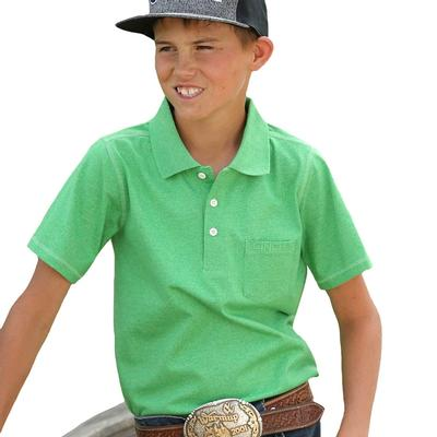 Cinch Boy's Kelly Green Polo