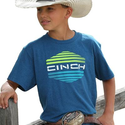 Cinch Boy's Monaco Blue Logo Tee