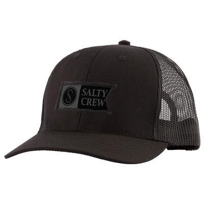 Salty Crew Black Pinnacle Retro Trucker Cap