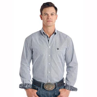 Panhandle Men's Paisley Cuff Button Down Shirt