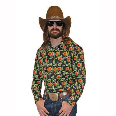 Panhandle Men's Long Sleeve Cactus Snap Shirt