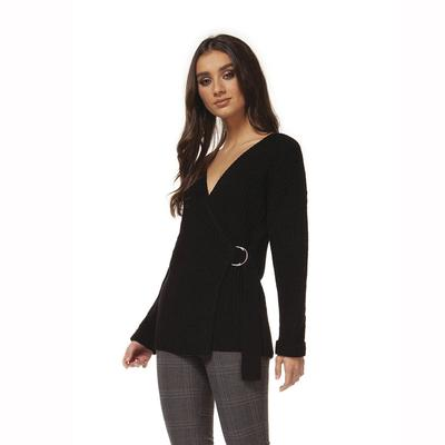 Black Tape Women's Long Sleeve Buckle Top