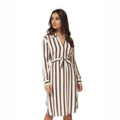 Black Tape Women's Striped Tie Dress