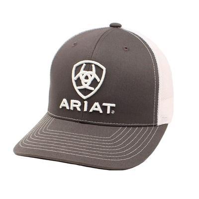 Ariat Men's Gray and White Classic Logo Cap