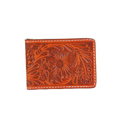 Ranger Belt Company's Tan Floral Money Clip