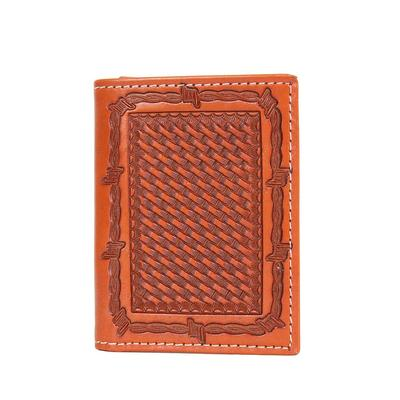 Ranger Belt Company's Men's Tan Basket Weave Trifold Wallet