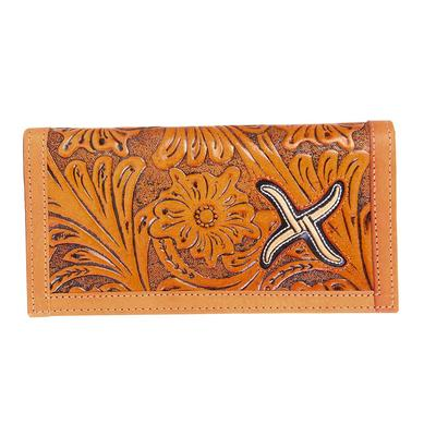 Twisted X Men's Tan Floral Long Bifold Wallet