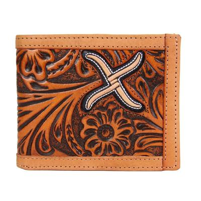 Twisted X Men's Tan Floral Bifold Wallet
