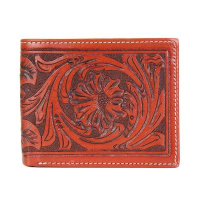 Twisted X Men's Leather Tooled Bifold Wallet