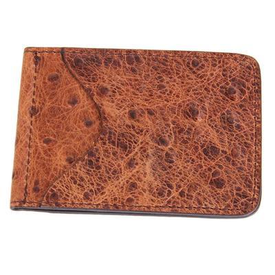 Ranger Belt Company's Men's Brown Leather Money Clip DRKBRN