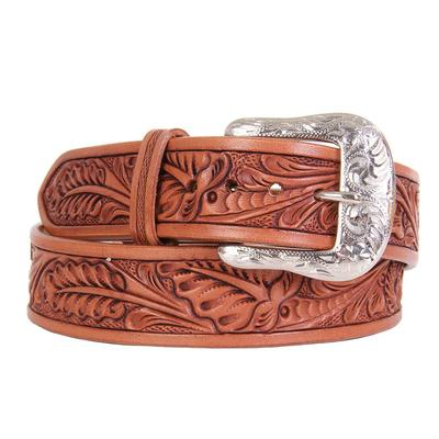 Twisted X Men's Leaf Carved Leather Belt