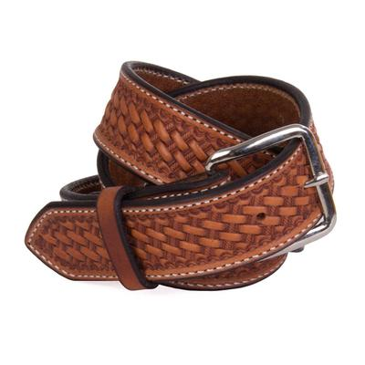 Texas Saddlery Men's Brown Basketweave Belt