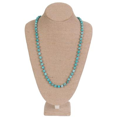 Women's Turquoise Faceted Bead Necklace