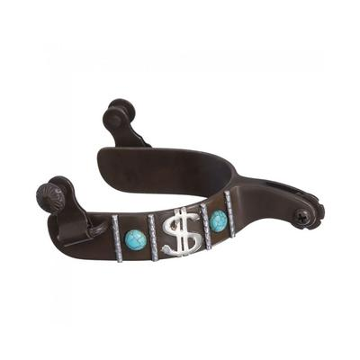 Antique Turquoise Stone And Dollar Sign Spur