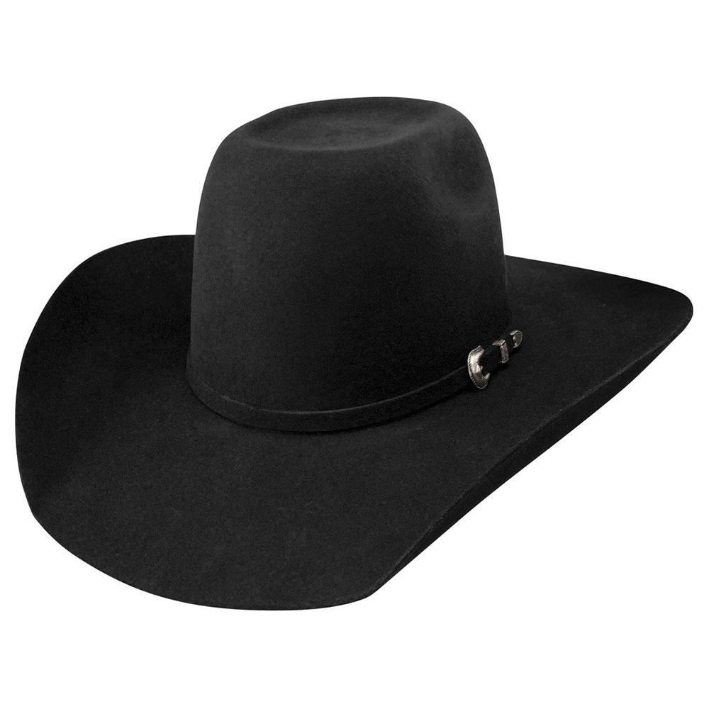 65295a78e Resistol Mens Black Pay Window 3X Felt Hat