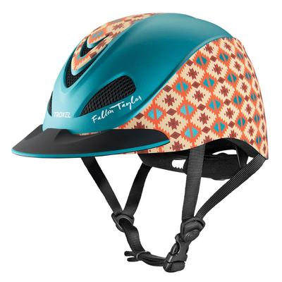 Fallon Taylor Teal Aztec Riding Helmet