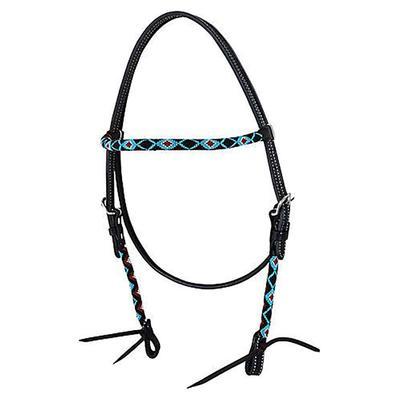 Circle Y of Yoakum Wrap Bead Brow Band Headstall