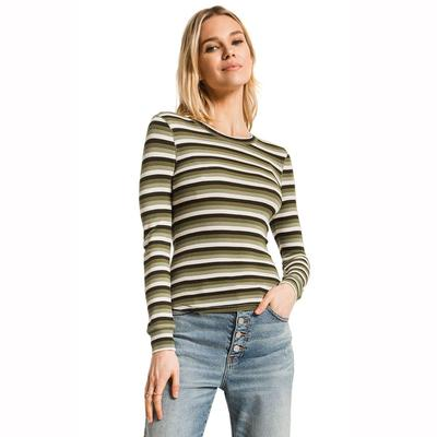 Z Supply Women's Long Sleeve Pamina Stripe Rib Top