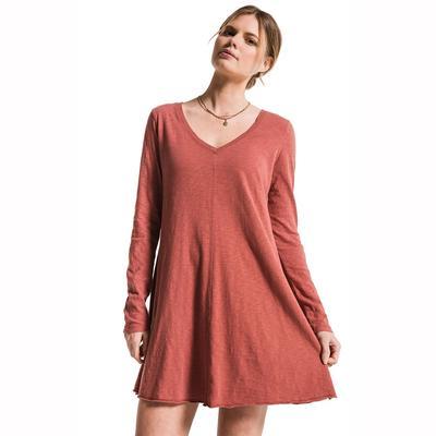 Z Supply Women's Long Sleeve Cotton Slub Clarington Dress