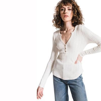 Others Follow Women's Long Sleeve Penny Top