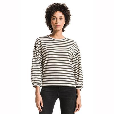 Z Supply Women's Long Sleeve Canyon Stripe Peasant Top