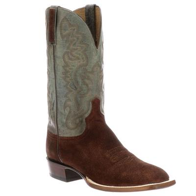Lucchese Men's Rust Levi Suede Boots