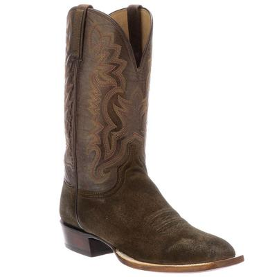 Lucchese Men's Chocolate Levi Suede Boots