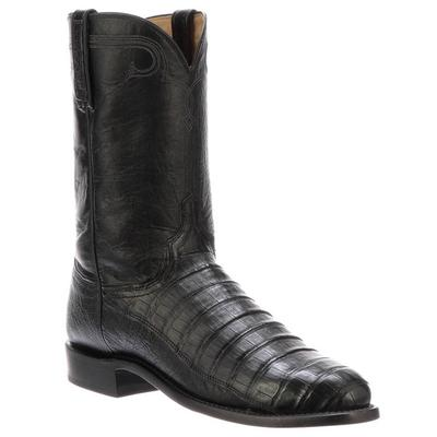 Lucchese Men's Black Gerard Caiman Boots