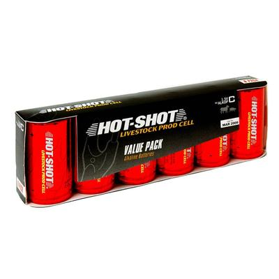 Six-Pack of High Amp. Alkaline Batteries - Size C