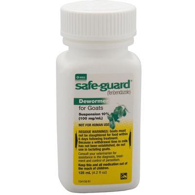 Safe-Guard Goat Dewormer (10% Suspension), 125 mL.