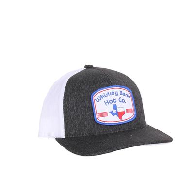Whiskey Bent Hat Co. Tejas Cap Black/White
