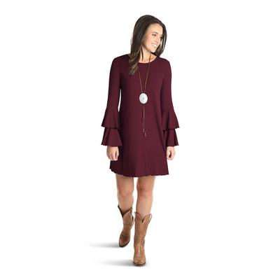 Wrangler Women's Tiered Bell Sleeve Dress