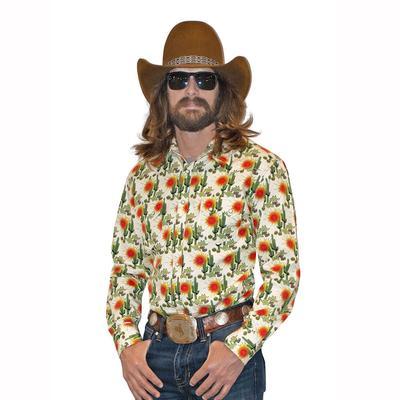 Panhandle Slim Dale Brisby Men's Long Sleeve Cactus Snap Shirt