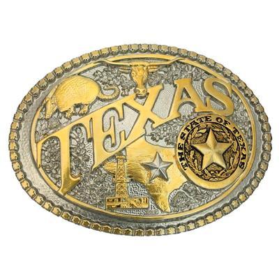 Montana Silversmith's Two-Tone Texas State Heritage Attitude Buckle
