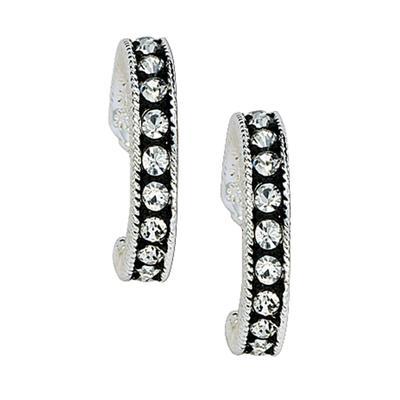 Montana Silversmith's Crystal Shine Cuff Earrings