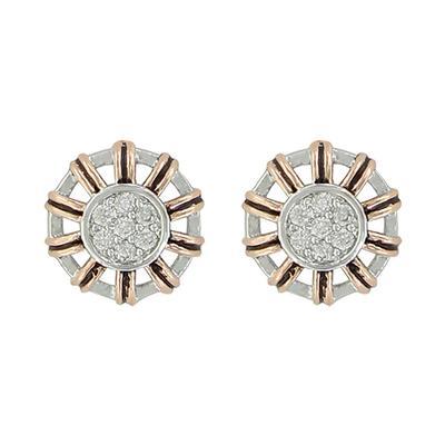 Montana Silversmith's Gold Buck Stitch Pinwheel Post Earrings